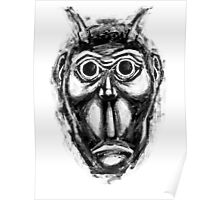Cockroach humanoid (black ink) Poster