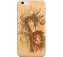 """THE LEO"" - Protective Angel for Zodiac Sign iPhone Case/Skin"