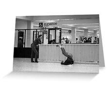 L.A Greyhound Terminal Greeting Card
