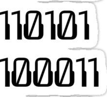 Go ( Binary Curse Word ) Yourself Sticker