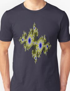Blu and Gold Fractal T-Shirt