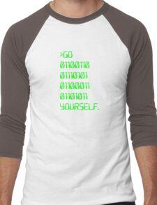 Go ( Binary Curse Word ) Yourself Men's Baseball ¾ T-Shirt