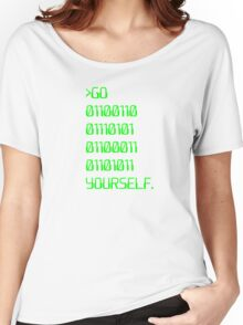 Go ( Binary Curse Word ) Yourself Women's Relaxed Fit T-Shirt
