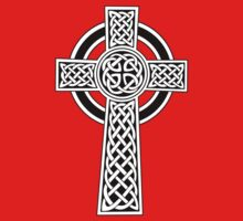 High Cross on red Kids Clothes