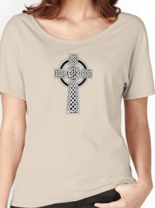 High Cross on red Women's Relaxed Fit T-Shirt