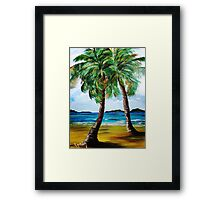 Lazy Twin Palms..........Two Person Party............ Framed Print
