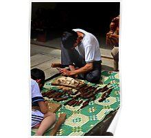 The Wood Craftsman - Sa Pa, Vietnam.  Poster