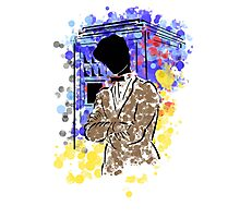 Doctor Who and TARDIS design Photographic Print