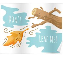 Fall Leaf Illustration / Sad Love Story Poster