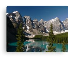 Moraine Lake, Valley of the Ten Peaks Canvas Print