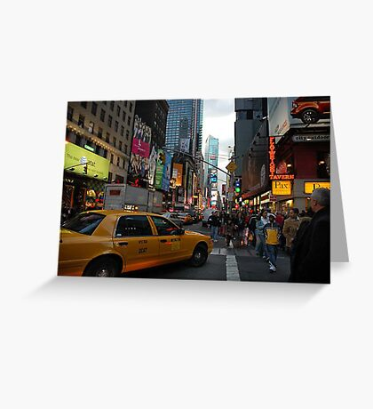 New York Taxi Cab Greeting Card