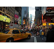 New York Taxi Cab Photographic Print