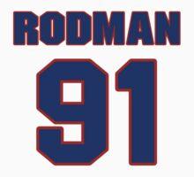 Basketball player Dennis Rodman jersey 91 by imsport
