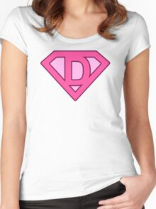 D letter Women's Fitted Scoop T-Shirt