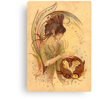 """""""THE PISCES"""" - Protective Angel for Zodiac Sign Canvas Print"""