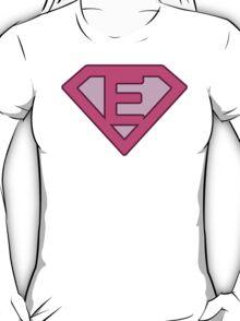 E letter T-Shirt