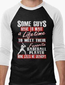 My Favorite Baseball Player Calls Me Grandpa Men's Baseball ¾ T-Shirt