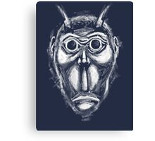 Cockroach humanoid (White ink) Canvas Print