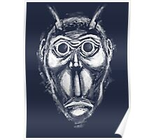 Cockroach humanoid (White ink) Poster