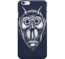 Cockroach humanoid (White ink) iPhone Case/Skin