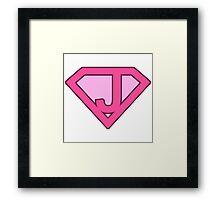 J letter Framed Print