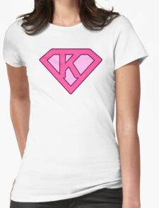 K letter Womens Fitted T-Shirt