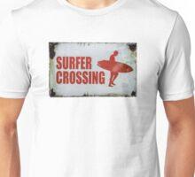 Vintage Surfer Crossing Sign Unisex T-Shirt