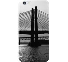 Tilikum Crossing and Ross Island Bridge (Portland) iPhone Case/Skin