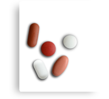 Assorted Medical Pills Canvas Print