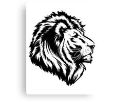 King of the Pride BLACK Canvas Print