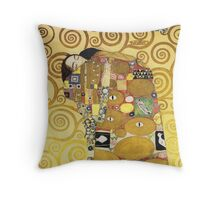 KLIMT : FULFILMENT Throw Pillow