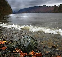 Derwent Water Shorebreak As Storm Approaches by Mark Haynes Photography