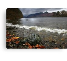 Derwent Water Shorebreak As Storm Approaches Canvas Print