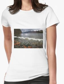 Derwent Water Shorebreak As Storm Approaches Womens Fitted T-Shirt