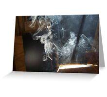 smoke sculptures Greeting Card