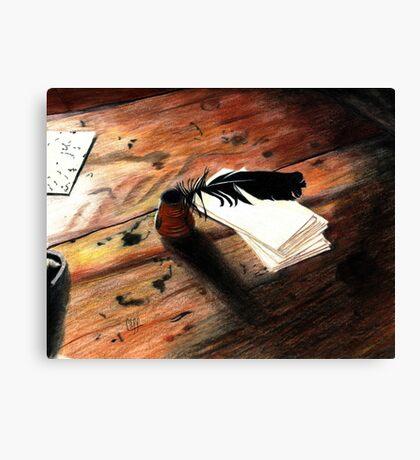 Quill Pen Canvas Print