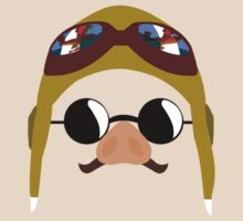 Porco Rosso - Marco Pagot face by AronGilli T-Shirt