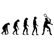 Evolved to Play Tennis Photographic Print