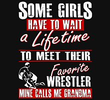 My Favorite Wrestler Calls Me Grandma Womens Fitted T-Shirt