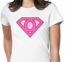 O letter Womens Fitted T-Shirt