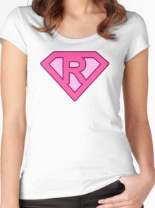 R letter Women's Fitted Scoop T-Shirt
