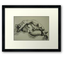 Mia - 20 min sketch Framed Print