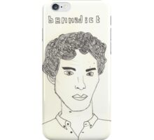 sketch of Bennedict Cumberbatch from sherlock iPhone Case/Skin