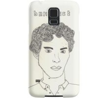 sketch of Bennedict Cumberbatch from sherlock Samsung Galaxy Case/Skin