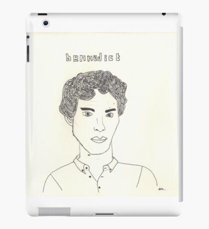 sketch of Bennedict Cumberbatch from sherlock iPad Case/Skin