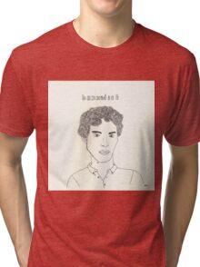 sketch of Bennedict Cumberbatch from sherlock Tri-blend T-Shirt
