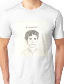 sketch of Bennedict Cumberbatch from sherlock Unisex T-Shirt