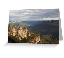 Afternoon at Echo Point - Blue Mountains Greeting Card