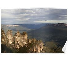 Afternoon at Echo Point - Blue Mountains Poster