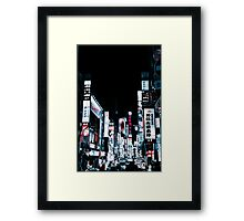 Kabukicho's Signs Framed Print